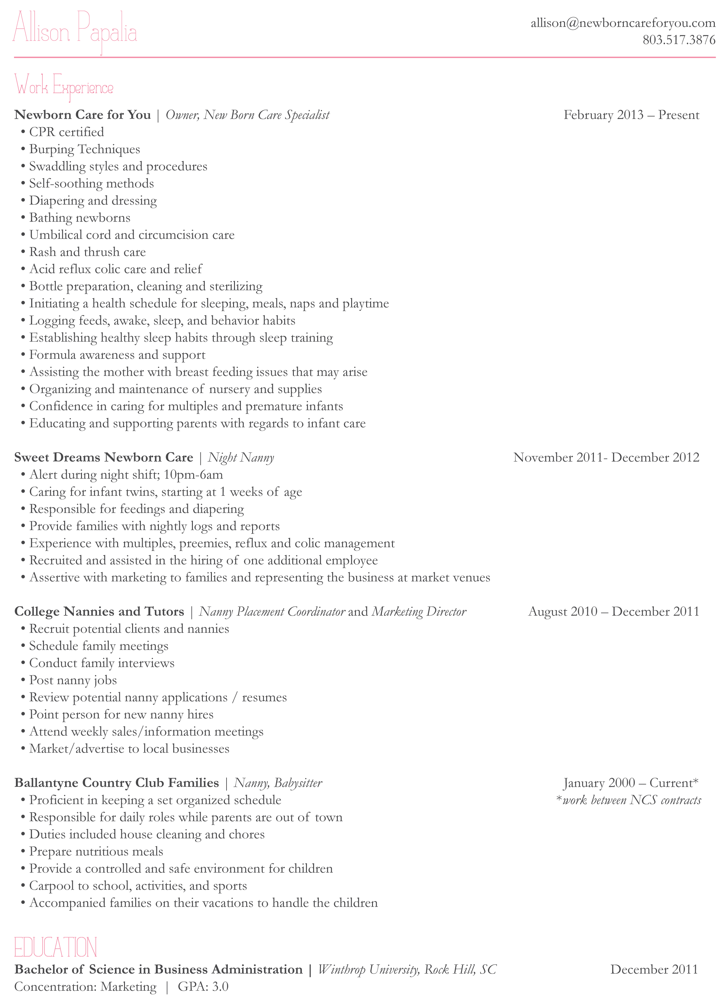 sleep technician resume